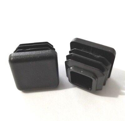 4 Square 34 .75 14-20 Gage Black Tubing Tube End Plugs Plastic Insert Caps