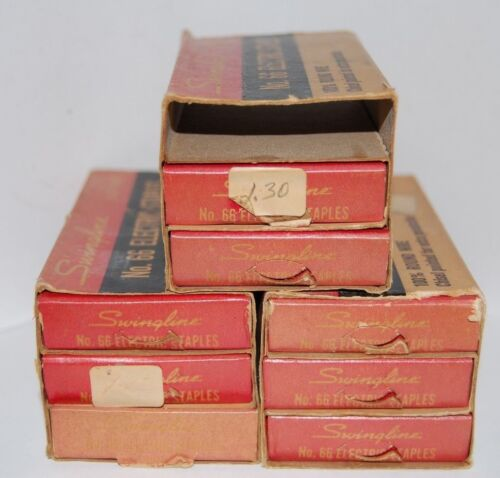 Vintage SWINGLINE No. 66 Electric Staples - Lot of 3 / 3-Drawer Boxes - New