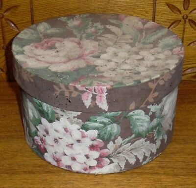 Antique Floral Wallpaper Paperboard Box