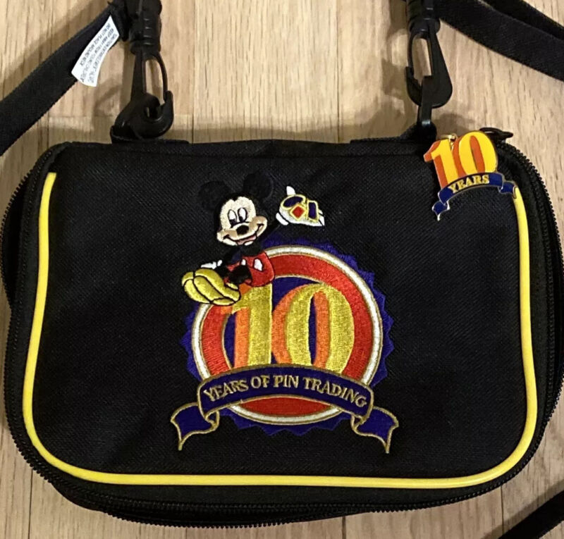 Disney 10 Years of Pin Trading Bag Ten Years Pin Trading Bag No Pins Authentic