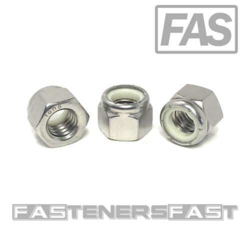 (25) 3/8-16 Stainless Steel Nylon Insert Lock Nuts Locking Hex Nuts 3/8-16
