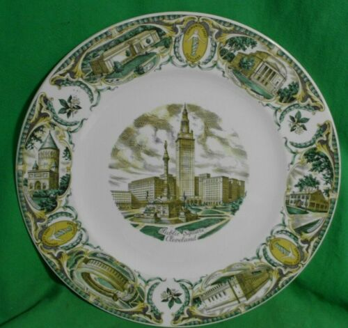 "Antique Vtg. Imperial By Salem China Co. Commemorative 11"" Plate Cleveland, Ohio"