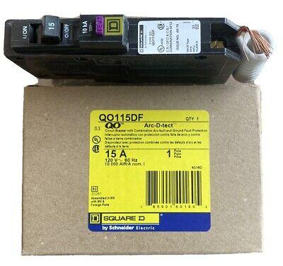 New Circuit Breaker Square D Qo115df 15 Amp 1 Pole 120v