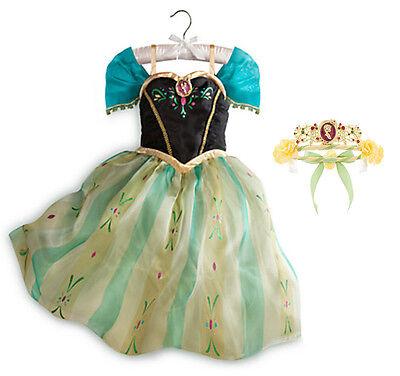 Anna Coronation Costume Frozen (Disney Store Frozen Costume Coronation Princess Anna Dress & Tiara - Girls)
