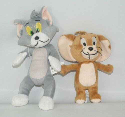 "Hanna Barbera Plush Tom & Jerry Set 9"" & 7"" Stuffed Animals"