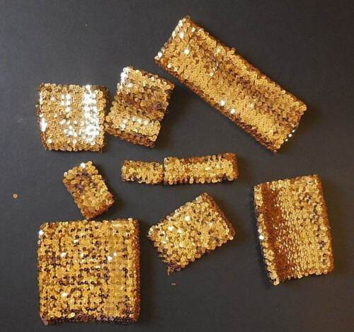 Lot of Gold Sequin Pieces  Crafts Sewing Embellishment