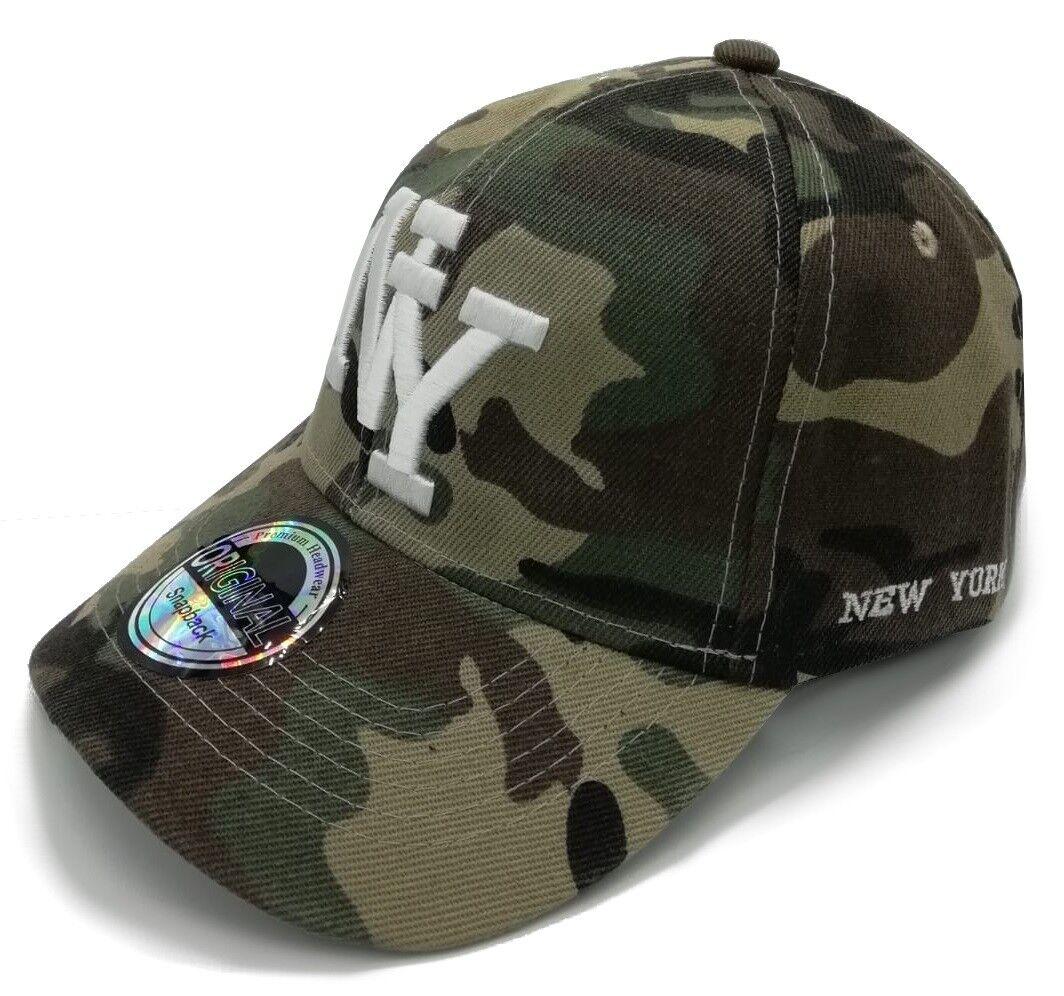 Cappy Herren Cap Kappe Basecap Klettverschluss NY Camoflage gebogener Schirm