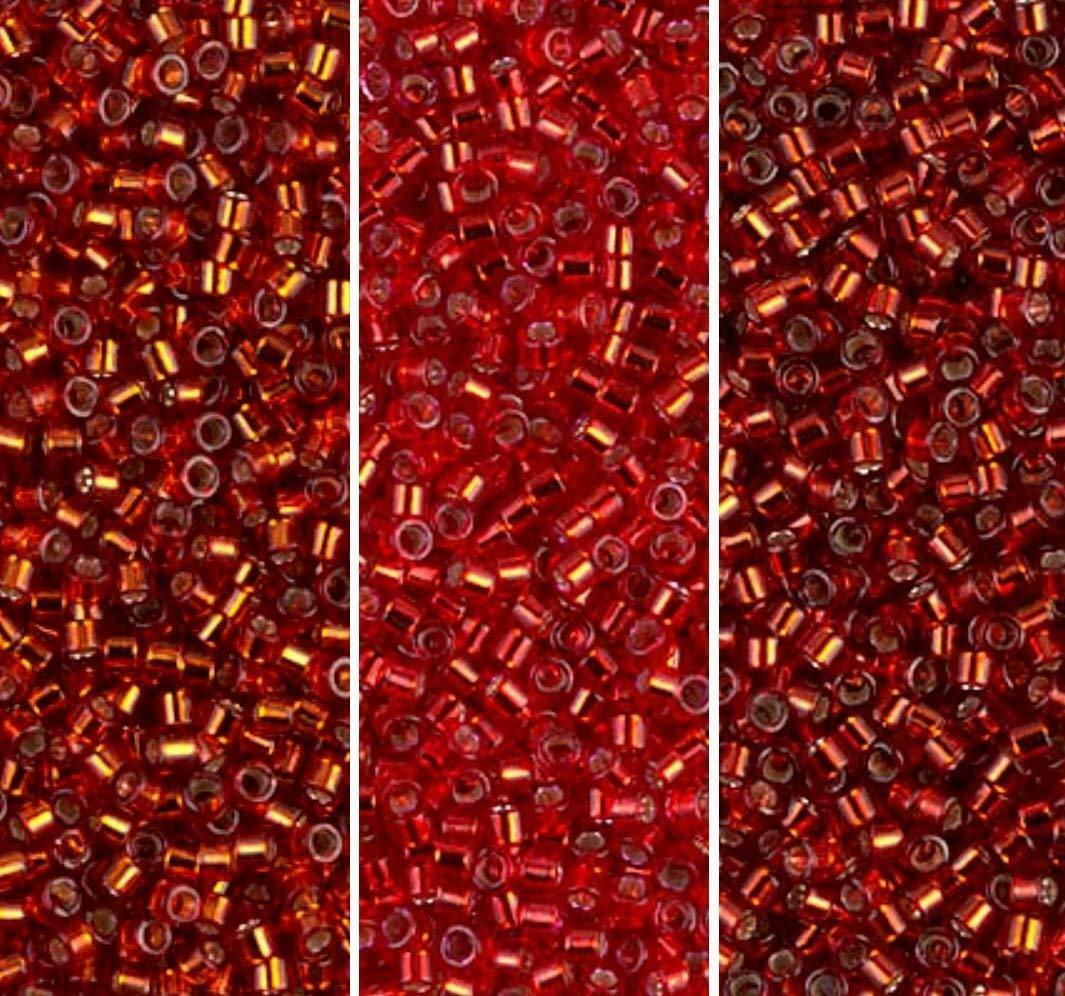 delica seed beads size 11 0 silver