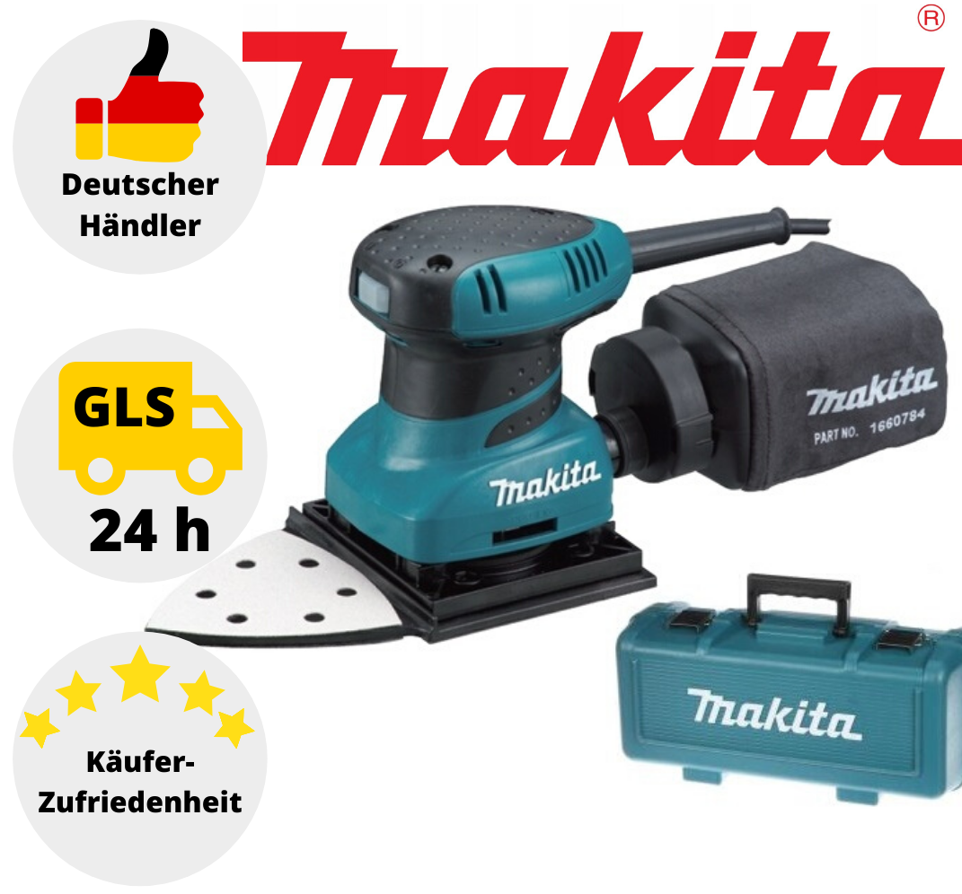 Makita Faust Schwingschleifer BO4565K Deltaschleifer Dreieckschleifer mit Koffer