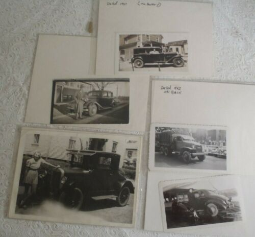 5 Vintage American Automobile photos Photographs from the same family