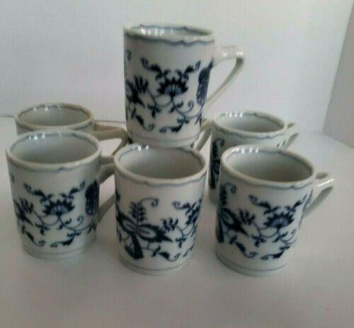Blue Danube Can shape Demitasse cup Set Of 7 Rectangular Mark