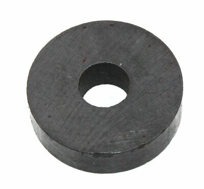 Round 0.75 Ferrite Magnet With Mount Hole 0.5lb Strength - Lot Of 10