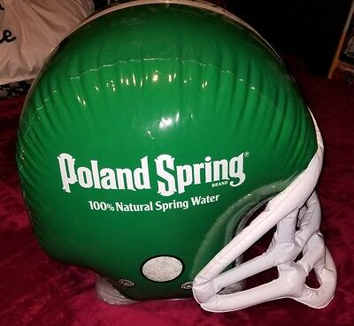 Poland spring water advertisement blow up football helmet display - Blow Up Football Helmets