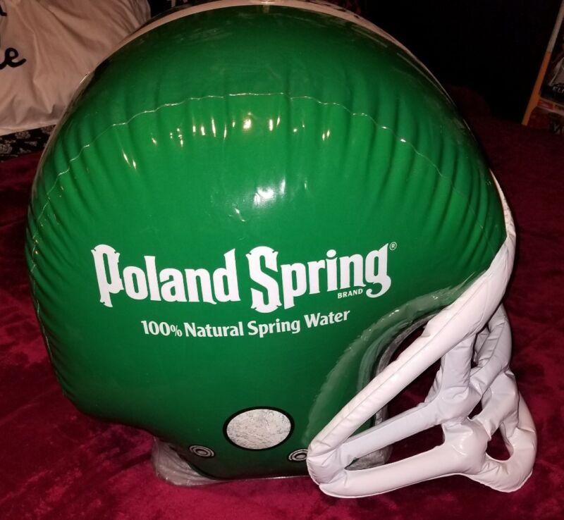 Poland spring water advertisement blow up football helmet display