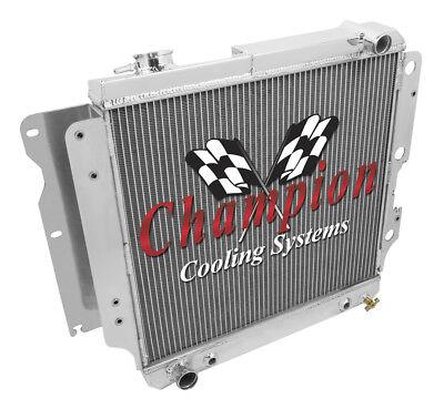 1987 - 2006 Jeep Wrangler 4/6 Cylinder - Champion 4 Row Full Aluminum Radiator