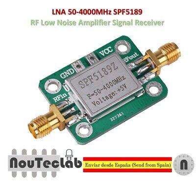 Lna 50-4000mhz Spf5189 Rf Low Noise Amplifier Signal Receiver Nf 0.6db Spf5189z