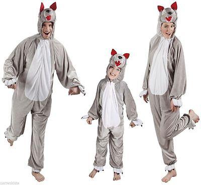 Wolf Wolfs Wolfskostüm Wolfkostüm Wolfoverall Kostüm Overall Plüsch Hund Tier (Hund Wolf Kostüme)