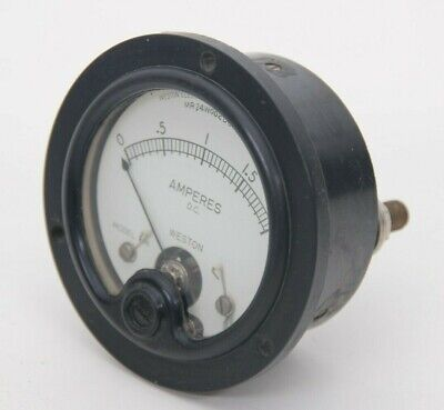 Vintage Weston Direct Current Amperes Panel Meter 0-2 Model 506 Mr 24w002 Dc Aa