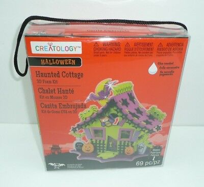 Halloween Haunted Cottage 3D Foam Craft Kit Creatology House Project Green - Creatology Halloween 3d Foam Kit
