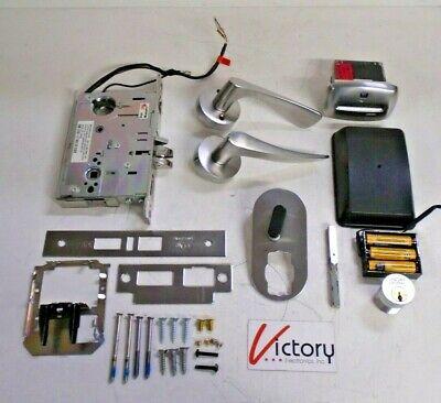Door Vingcard Rfid Signature Hotel Lock Kit Chrome 4.5v Assa Abloy Sig4503