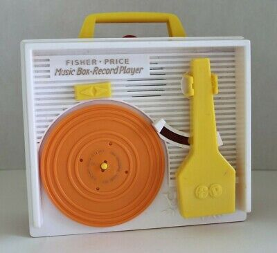 Vintage 1971 Fisher Price Music Box Record Player w/ 1 Disc Little Dog Gone 995