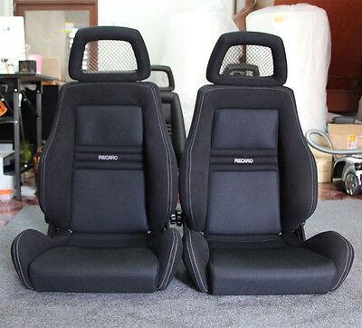 2 Jdm RECARO LX SEATS NET HEADREST RACING PORCHE EG EK AUTO CARS Excellent!+100