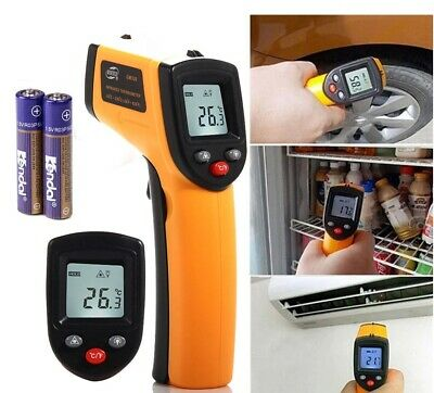 Battery Operated Digital Laser Ir Infrared Temperature Gun Thermometer