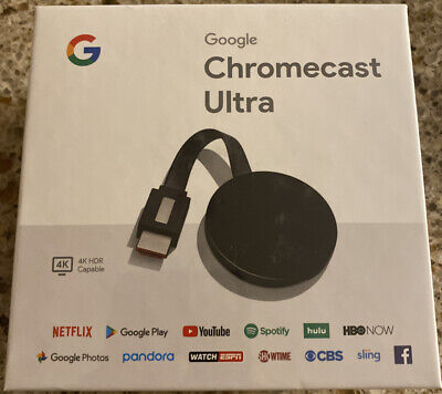 Google Chromecast ULTRA 4K Digital Media Streamer   NEW