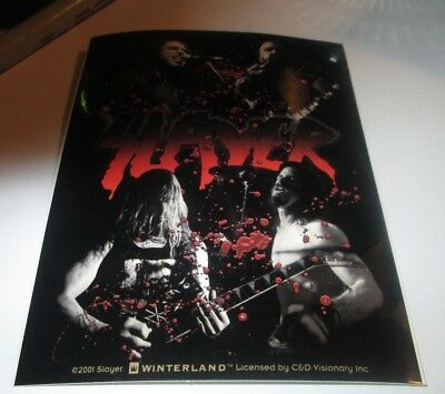 SLAYER STICKER NEW 2000 VINTAGE OOP RARE COLLECTIBLE