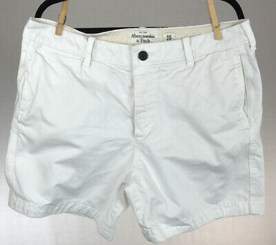 """Abercrombie & Fitch Men's White Shorts 6"""" Inseam Size 36"""