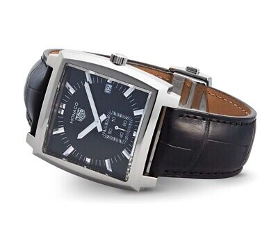 Genuine TAG Heuer Monaco Black Dial Quartz Men's Watch & Box + ( ex-display ), used for sale  Shipping to South Africa