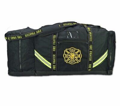Personalized Premium 3xl Firefighter Rescue Step-in Turnout Fire Gear Bag Black
