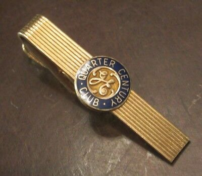 General Electric GE Quarter Century 25 Years Employees Tie Clip Clasp Bar