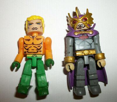 Marvel Minimates Figure Mini Mates DC Ocean Master Aquaman Lot x2