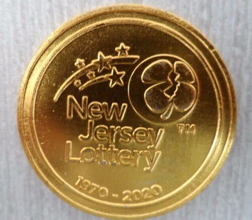 LUCKY NJ LOTTERY 50 YEAR 1970~2020 GOLDEN SCRATCHER COIN~USE ON SCRATCH~OFFS