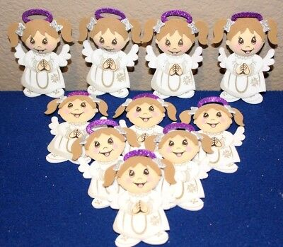 BAPTISM / COMMUNION GIRL PARTY SUPPLY OR DECORATION FOAM FIGURES 10 -
