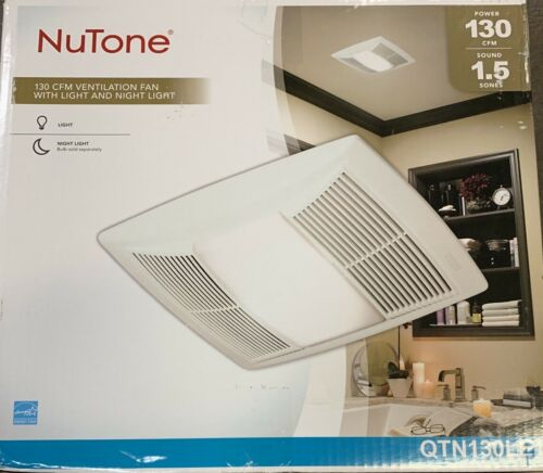 NuTone QT Series Quiet 130 CFM Ceiling Exhaust Fan with Ligh