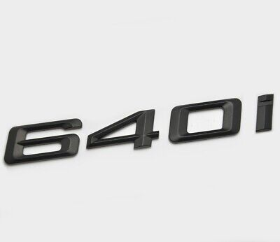 Silver Chrome 640d Car Badge Emblem Model Numbers Letters For 6 Series E63 E64 F06 F12 F13 G32
