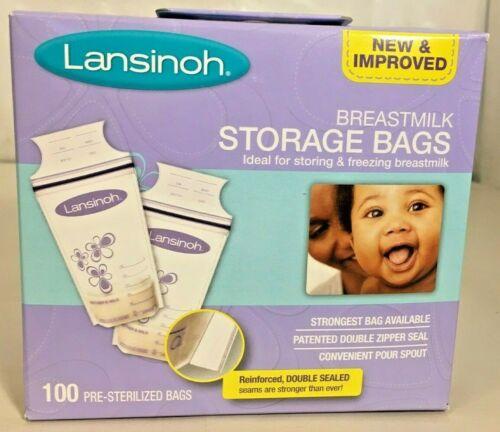 Lansinoh Breastmilk Storage Bags For Storing/Freezing the Breastmilk.100 bags