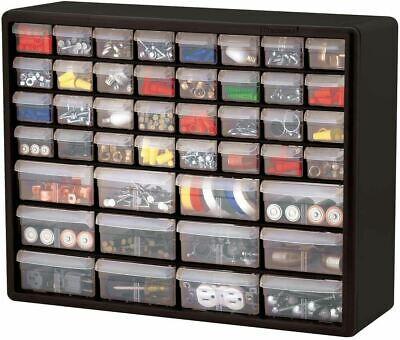 Parts Storage Cabinet 44 Drawer Bins Garage Nuts Bolts Organizer Workshop Office