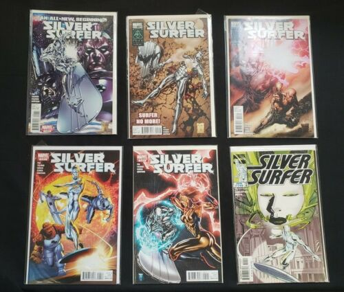 SILVER SURFER 6PC (VF/NM) SUN RISE AND SHADOW FALL ORIGINS & MORE 1998-2011