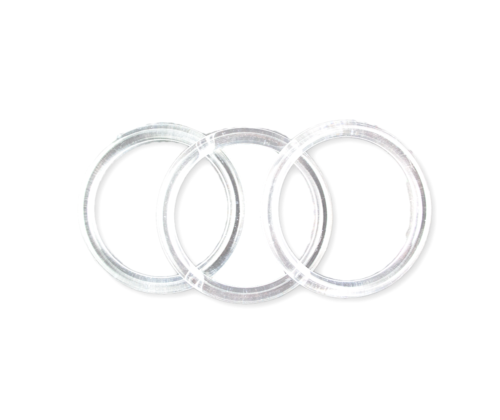 3 inch Clear Plastic Acrylic Craft Rings 5/16 inch Thick 12