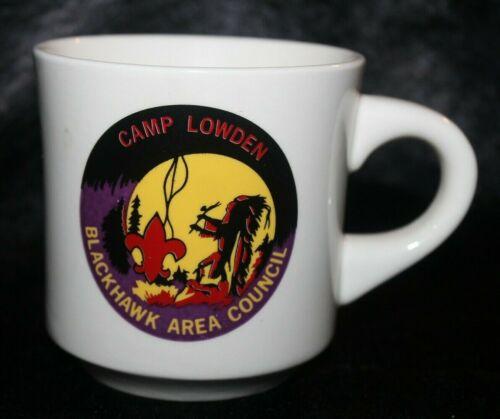 BOY SCOUTS CAMP LOWDEN Blackhawk Council 1971 - 1983 BSA Jamboree Mug Cup