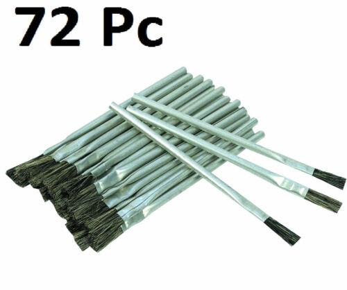 "72 Piece 3/8"" Acid Brush Horsehair Bristle Shop Hobby Brushes Glue Oil Flux"