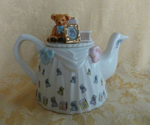 Paul Cardew Porcelain Teapot W/ Lid ~ Christening Tea Table Made in England