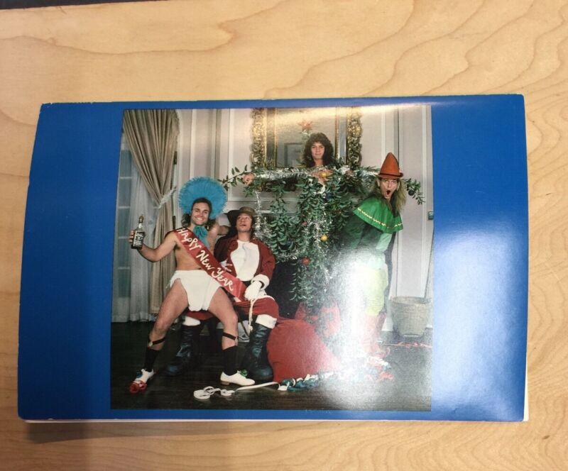 VAN HALEN Vintage 1979 New Years's Postcard Actual VINTAGE w/Alex Signature