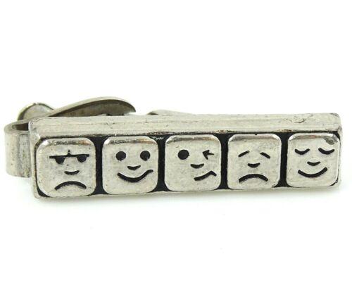 Vintage Emoji Tie Clip Bar Funny Faces
