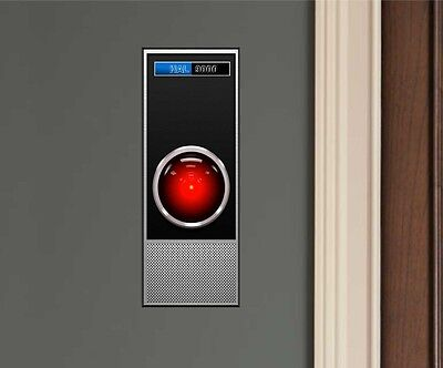HAL 9000 2001: A Space Odyssey Movie Repositionable Decal Sticker-Great Gift!