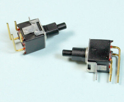 2pcs Apem Tiny Washable Momentary On Push Buttons Switch Dpst Right Angle