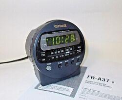 AIWA FR-A37U FM/AM Alarm Clock Radio-Snooze-Battery Backup-WORKS GREAT